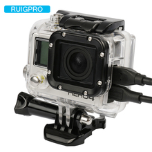 цена на Ruigpro for waterproof housing case with side opening for gopro4 /go pro 3+/3 for gopro hero3 /3+/4 hd camera