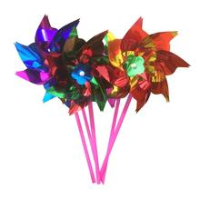 58d53f51e Pack of 100 Pieces DIY Shiny Sequins Windmill Pinwheel Crafts Kids Toy Home  Garden Decor Random