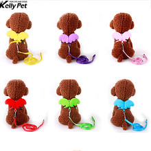 Cute Angel Pet Dog Leads and Collars Set Nylon Puppy poodle puppy Lovely wing design harness vest rope leash drop shipping