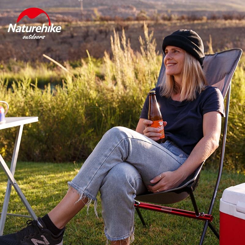 Chaise de pique-nique pliante en aluminium compacte robuste naturetrekking en plein air chaise de plage de pêche légère chaise de Camping pliable - 2