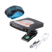 JUJINGYANG 5 LED mini clip cap type headlamp smart sensing USB rechargeable sensors head light