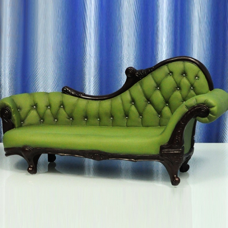 ФОТО Hot Doll Figure Accessory Furniture 1:6 KUMIK AC-7 Green Long Sofa Settee Retro Couch Model Toys Collection Gift