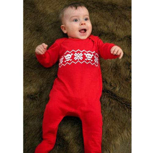 Newborn Baby Boys Girls Christmas Romper  Jumpsuit Outfits Clothes Cotton Casual Long Sleeve Print Autumn Rompers baby rompers 2016 spring autumn style overalls star printing cotton newborn baby boys girls clothes long sleeve hooded outfits