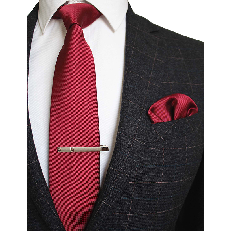 Mens Purple Diamond Check Work Silk Tie Hanky Handkerchief Cufflinks GIFT SET