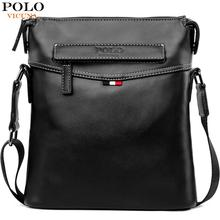 VICUNA POLO Man Pure Color Classic Balck Men Messenger Bag Soft Leather Men's Crossbody Bag Casual Travel Shoulder Bag For Male цена 2017