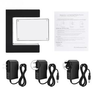 Image 2 - אלקטרוני ריחוף מגנטי צף תמונה מסגרת עם LED אורות חידוש מתנת עיצוב הבית תמונות מסגרות