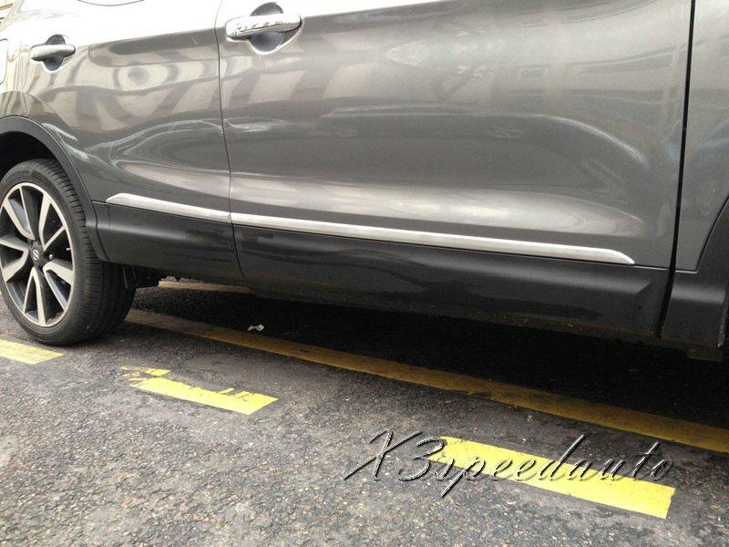 Garniture de moulage de porte latérale chromée de haute qualité pour Nissan Qashqai 2015