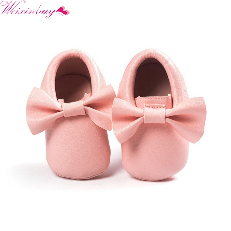 Mother & Kids ... Baby Shoes ... 32803459276 ... 2 ... Baby Shoes 2019 New Fashion Tassels Moccasin Boys Girls Toddler Soft Sole Crib Shoes Soft Bottom PU leather Pre-walkers Sneakers ...