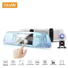Car dvr Touch Screen Dash Cam Rear View Camera Recorder Dual Lens 1080P 5 Inch Mirror Recorder Driver Night Vision Registrator topsource car dvr dual lens camera registrator 7 inch ips screen hd 1080p car recorder dash camera night vision with rear camera