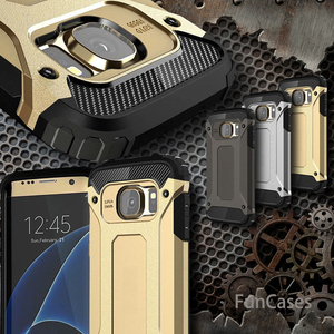 Luxury Tough Durable Armor Phone Case For Samsung Galaxy S10 S8 S9 Plus S10e S5 S6 S7 Edge Hybrid PC Shockproof Protective Cover(China)