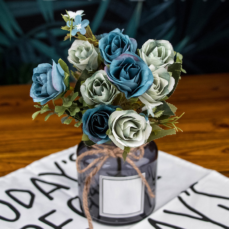 Office Artificial Flower Party Event Display Simulated Rose Home Decoration Silk Plastic Accessories Convenient in Artificial Dried Flowers from Home Garden
