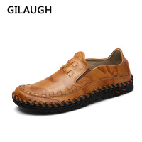 Handmade Genuine Leather Weaving Style Men High Quality Casual Shoes Light Breathable Flats Men Shoes