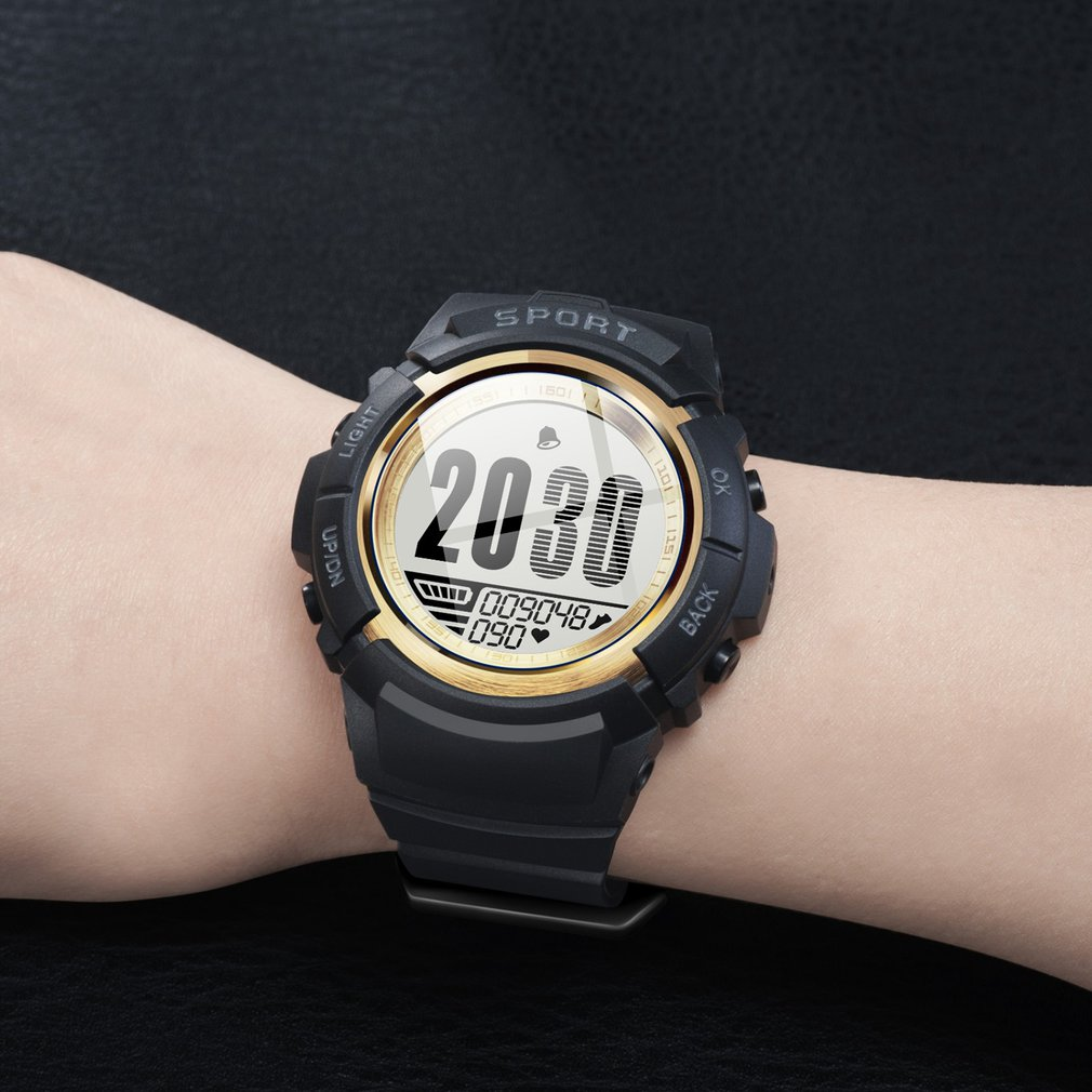 S816 Men Sport Smart Watch Ip68 Waterproof Fitness Tracker Heart Rate Compass Stopwatch Alarm Clock Wristwatches Dropshipping To Enjoy High Reputation At Home And Abroad Watches