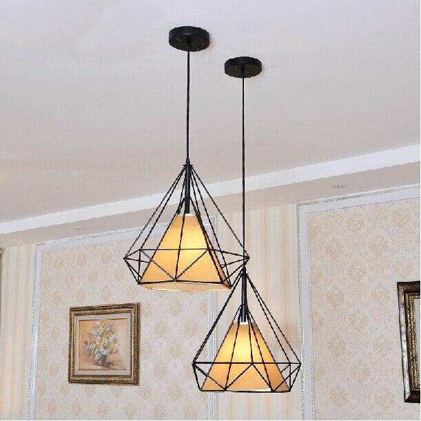 Dia*38/50cm American industrial loft vintage pendant lights for dining room iron black E27 Edison bulb home decoration lamp
