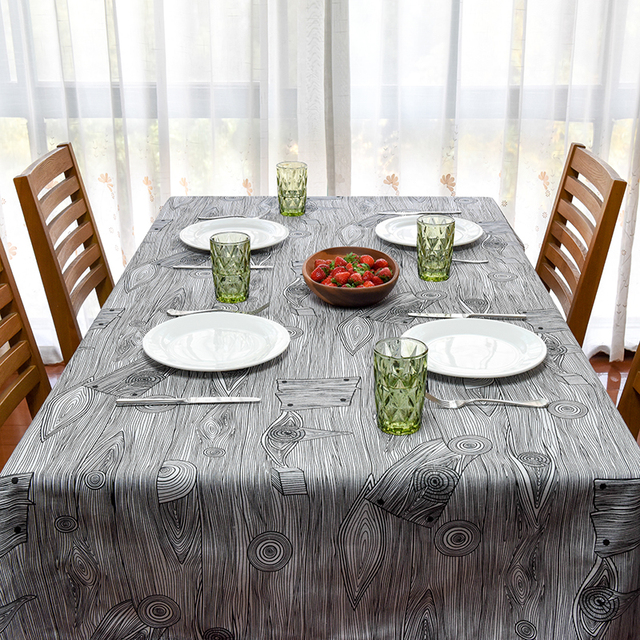 2017 New Spring Linen Table Cloth Geometric Wood Grain High Quality  Tablecloth Table Cover Manteles Para