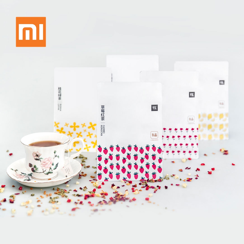 New Xiaomi Youpin Tea Bags Rose Lemon Black Tea Oolong Fruit Red Tea Bag Infuser Leaf Teabags for Family Friends Gift 20Pcs/50gNew Xiaomi Youpin Tea Bags Rose Lemon Black Tea Oolong Fruit Red Tea Bag Infuser Leaf Teabags for Family Friends Gift 20Pcs/50g