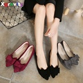 Hot 2016 Autumn Point Toe OL Shoes Spring New Arrival Ladies Flat Shoes Girl's Casual Business Flats Butterfly Knot Shoes C002