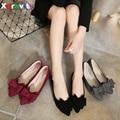 Hot 2016 Outono Ponto Toe OL Sapatos Nova Primavera Chegada senhoras Sapatas Lisas Da Menina Casual Business Flats Sapatos Borboleta Nó C002