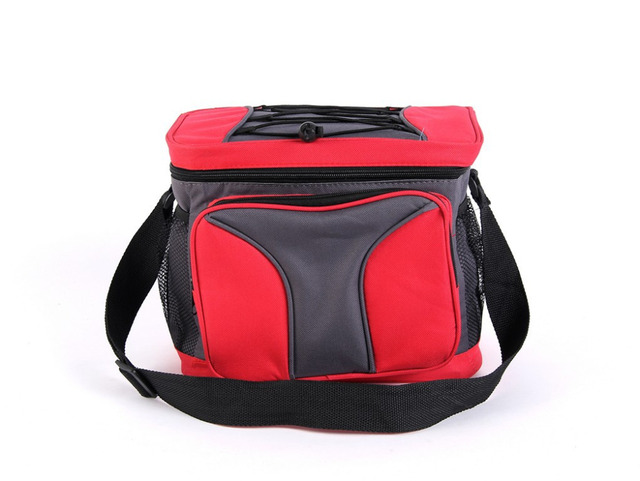 10L thick thermal cooler bag blue and red picnic storage bag waterproof ice or heat high quality