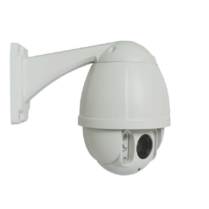 High Quality 1 0P Weatherproof IP66 IP Mini PTZ Camera 10X Optical Zoom 50M IR White