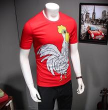 2017 Sale Fashion O-neck Broadcloth Cotton Short-sleeve T-shirt Chicken Men's Clothing Gift Pattern Print Top Chick Clothes