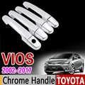 for Toyota VIOS 2002 - 2017 Chrome Handle Cover Trim XP40 XP90 XP150 Soluna Vios Belta 2008 2012 2014 Accessories Car Styling