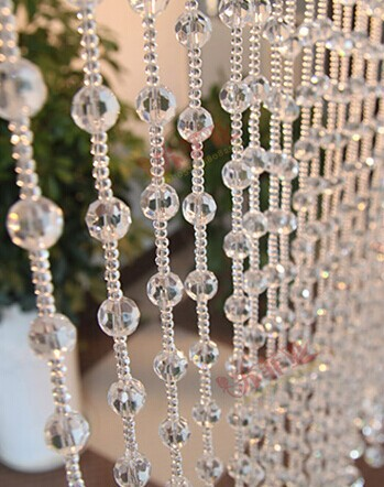 20 Meters Chandelier Crystal Strand Glass Bead Festival Decoration Rings