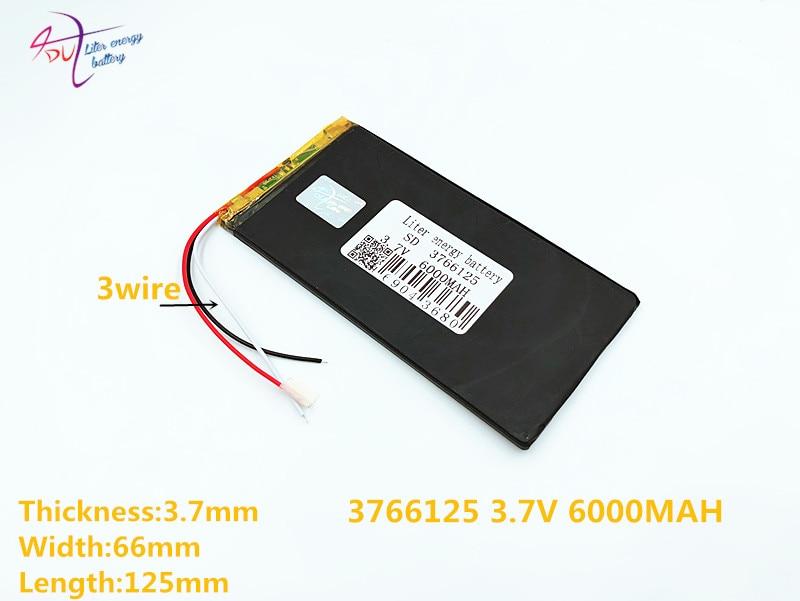 Stromquelle Ausdrucksvoll 3 Linie 6000 Mah Lithium-polymer 3766125 4066125 3,7 V Liter Energie Batterie Tablet Batterie V811 812 E708q1 Batterie Batterien