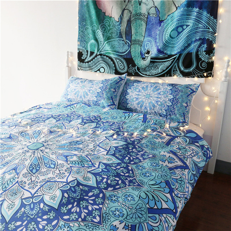 Indian Bohemia Crystal Arrays Geometry Printed Bedding Set Comfortable Duvet Cover With Pillowcase Sets Bedclothes Home Textile