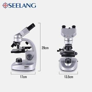 Image 4 - Binocular LED microscopio biológico + 11 Uds accesorios + mochila portátil alta calidad HD escuela estudiante Laboratorio Educativo