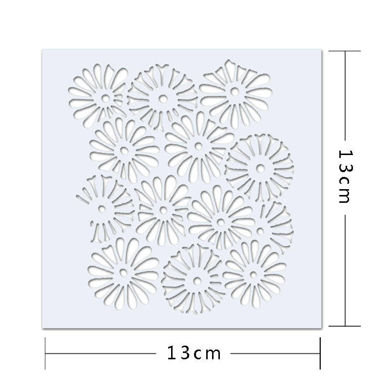 1 Piece Fancy Sunflower Cake Decorating Tools Printing Hollow Out Model Cake Stencils Cake Sugar Sieve Tools Coffee Drawing Mold
