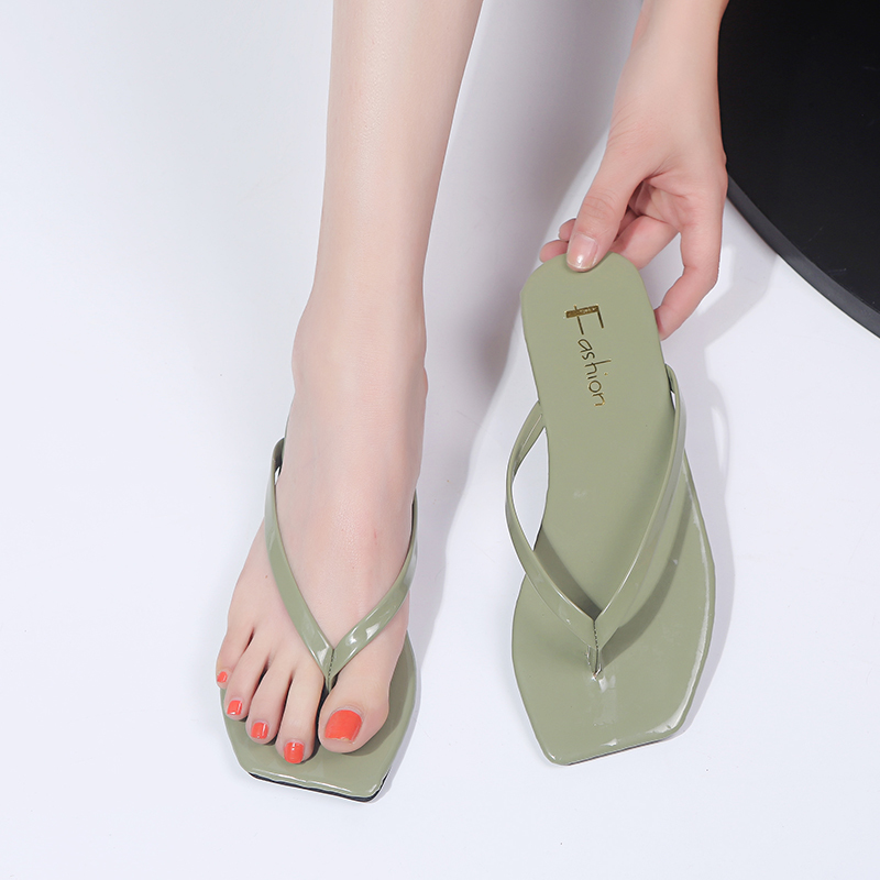 Shoes Women 2019 Summer Ladies Slippers Candy Color Clip Toe Women's Sweet Slippers Outdoor Beach Flat Flip Flops Light Slippers