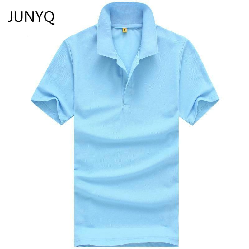 2019 nieuwe gratis verzending zomer stijl revers kraag korte mouwen T-shirt herenmode casual T-shirt