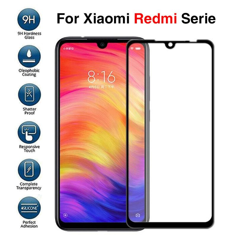 3D Protective Glass For Xiaomi Redmi Note 7 Pro Case Tempered Glass For Xiaomi Red mi 7 Note 6 Pro Xiomi Xaomi Note7 Phone Cover(China)