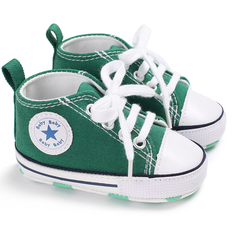 Infant Baby Girls Boys Star Canvas Flat Casual Shoes Sneakers First Trainers
