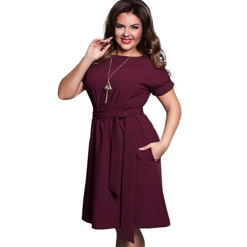 26dd8eaadda EFINNY Plus Size Women Dress O-neck Bodycon Chiffon Dress Elegant Casual  Women Blue Dresses. US  6.35. Summer Dress Big Size Office Dress Blue Red  Green ...