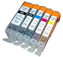 Vilaxh PGI-150XL CLI-151 Ink Cartridge Replacement For Canon Pixma IP-7210 MX-721 MG 6310 6410 5410 Printer vilaxh pgi 550 cli 551 refillable ink cartridge for canon pixma ip7250 mg 6350 mg 5450 mx 925 mx 725 pixma mg7150 with arc