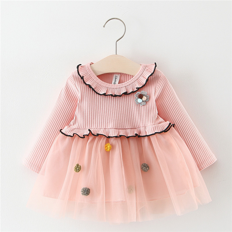 Korea Design Girls Baptism Dress Half Birthday Outfits Long Gold Dresses For Girls Infant Party Dress For Girls Clothes 1 Year in Dresses from Mother Kids