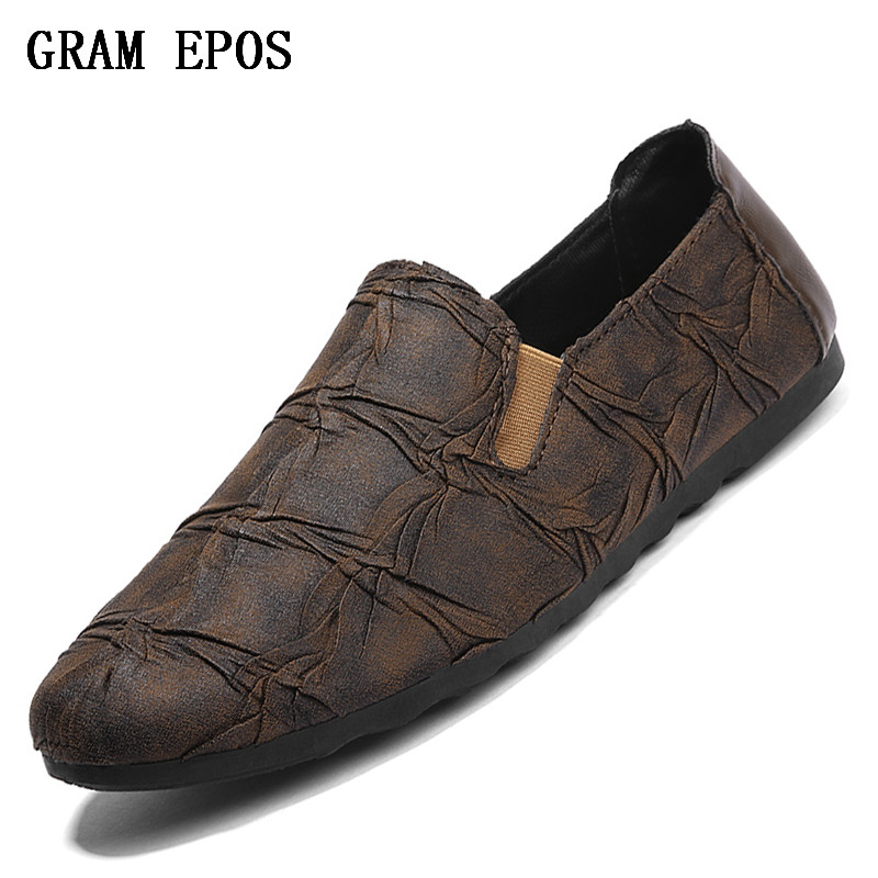 GRAM EPOS 2018 New Breathable Causal Shoes Men Loafers high quality Lace-Up PU Leather Moccasins Bullock Men Oxfords Shoes ...