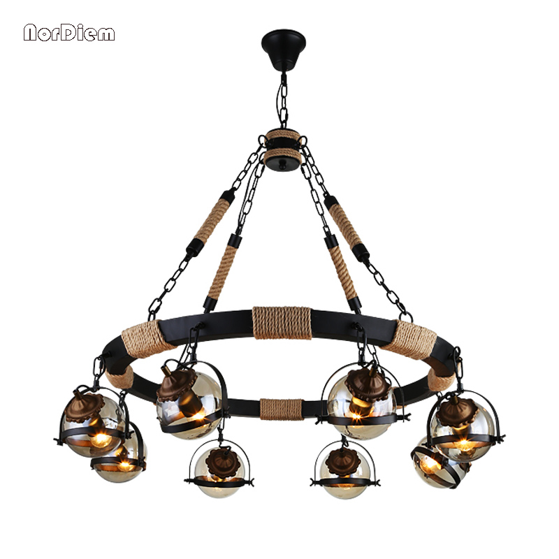 Vintage Magic beans round glass ball pendant lights lamp rope Living Bar Hotel industrial LED droplight Loft DNA Suspension Lamp vintage loft industrial edison flower glass ceiling lamp droplight pendant hotel hallway store club cafe beside coffee shop