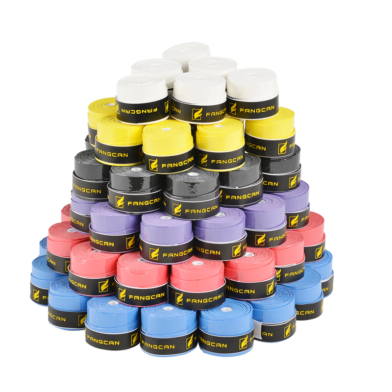 (12 gab / iesaiņojums) FANGCAN augstas kvalitātes badmintona / tenisa / skvoša raketes ar rokturi / pārspriegumiem - gropi un plēves pārsegi