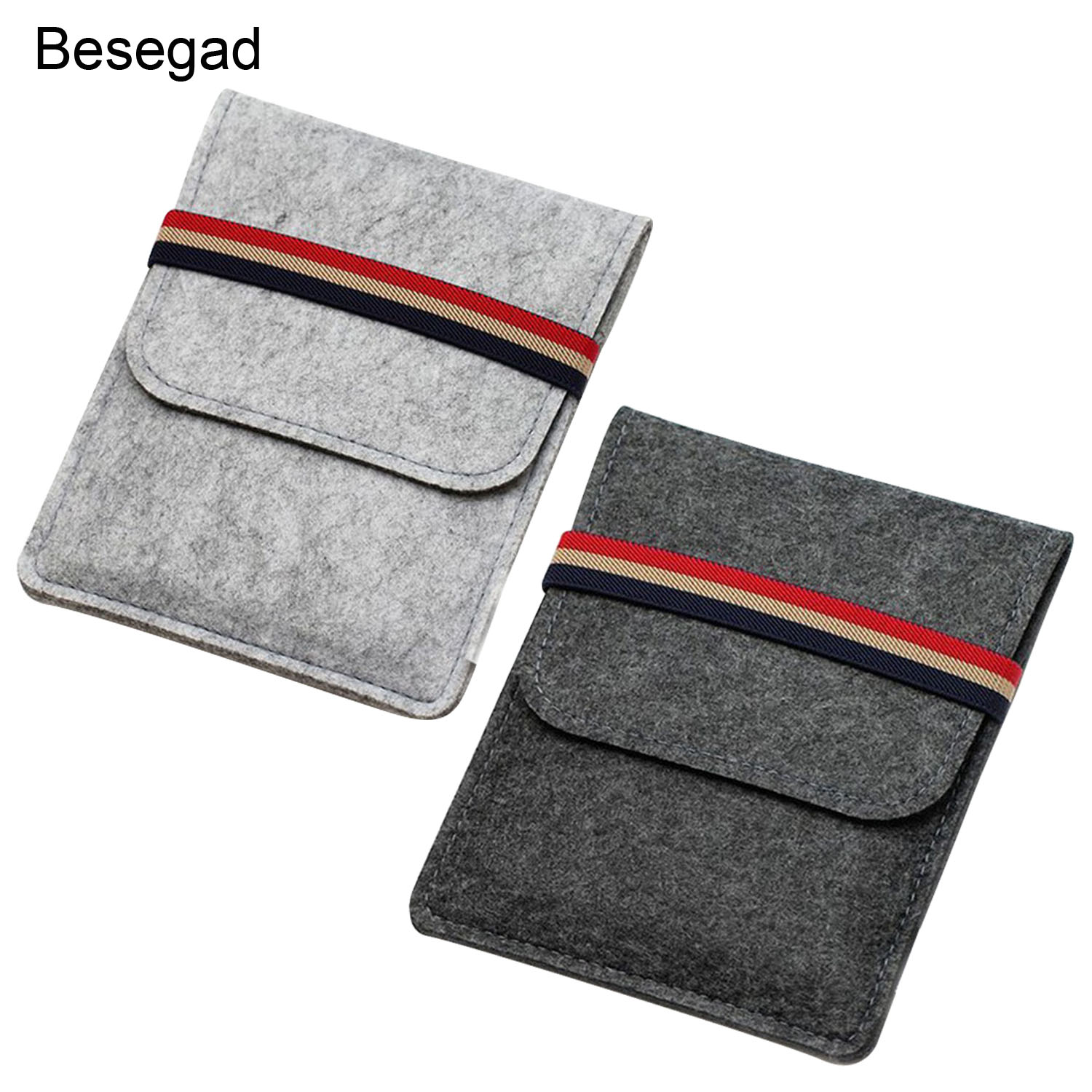 Besegad Felt Tablet Protective Case Bag Pouch Cover Sleeve for Amazon Kindle Voyage Paperwhite 1 2 3 6inch E-Book Reader Gadgets