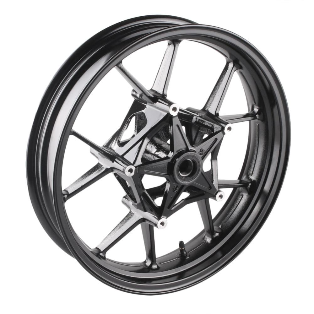 Мотоцикл сплава передние колеса для BMW S1000RR 2009 2010 2011 2012 2013 2014 2015 и S1000R 2014 2015 черный