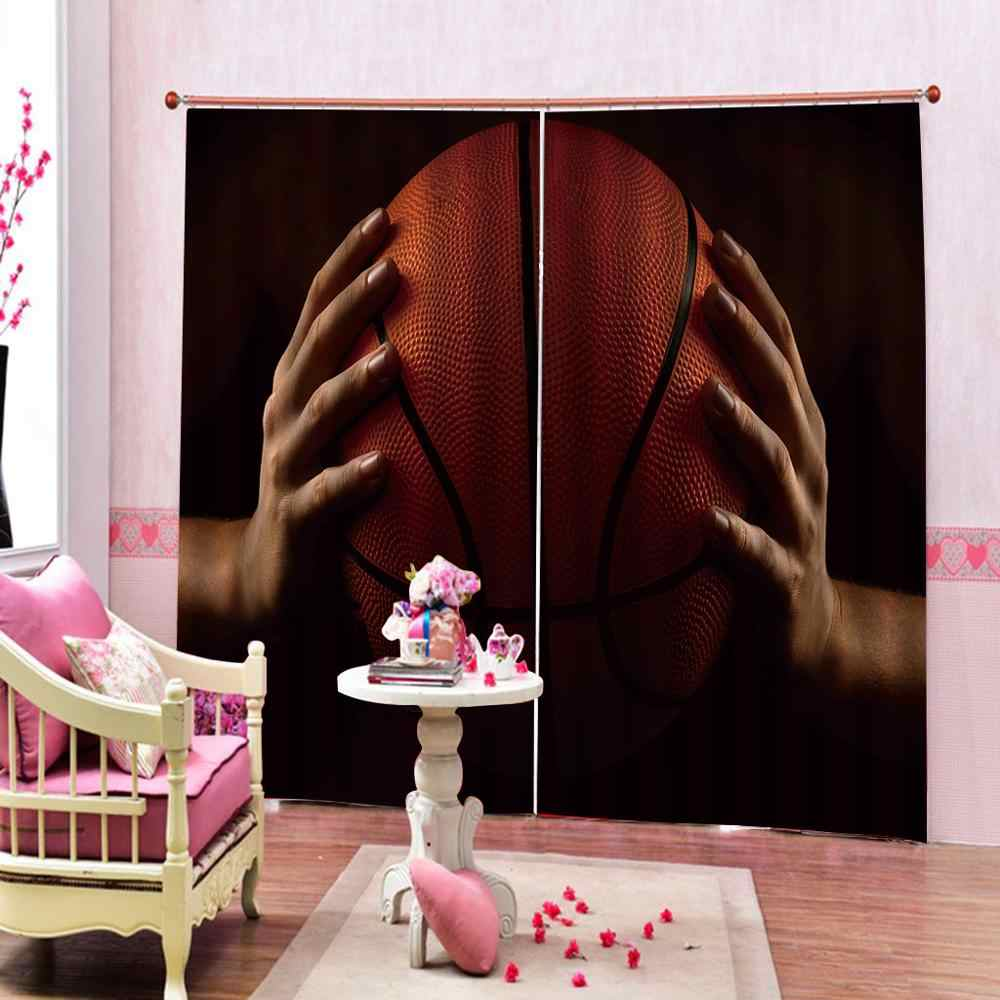 Customized size Luxury Blackout 3D Window Curtains For Living Room ball curtains Blackout curtain
