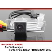 Para volkswagen vento vw polo sedan notch, câmera de backup retrovisor hd ccd para carro e visão noturna à prova d' água