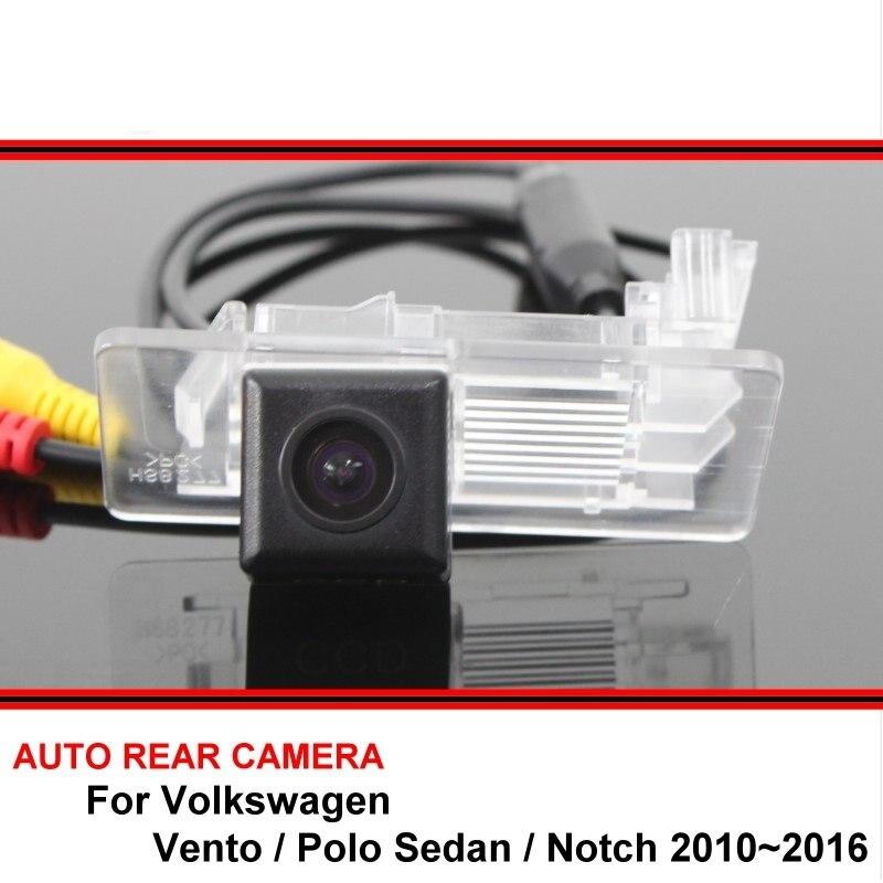 Para volkswagen vento vw polo sedan entalhe carro reverso backup hd ccd retrovisor estacionamento câmera de visão traseira à prova dwaterproof água visão noturna