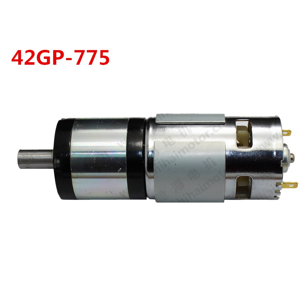 42GP-775 permanent magnet DC planetary gear motor 24V 1.2N.m torque 1:5 Reduction ratio 820rpm with gear 40w 50w hand cranked generator dc small generator 12v 24v permanent magnet dc motor dual use