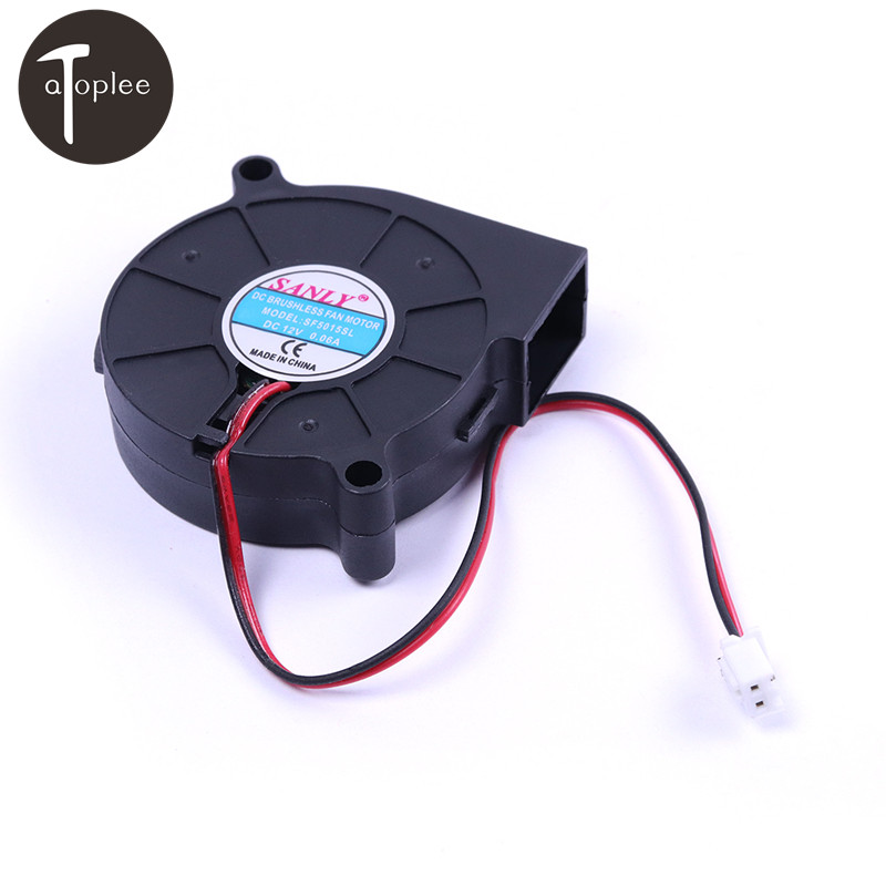 1PCS DC12V 0.06A Brushless Turbine Cooling Blower Fan SF5015SL 1.8CFM Snail Fan Silent Blower For Heater Dedicated