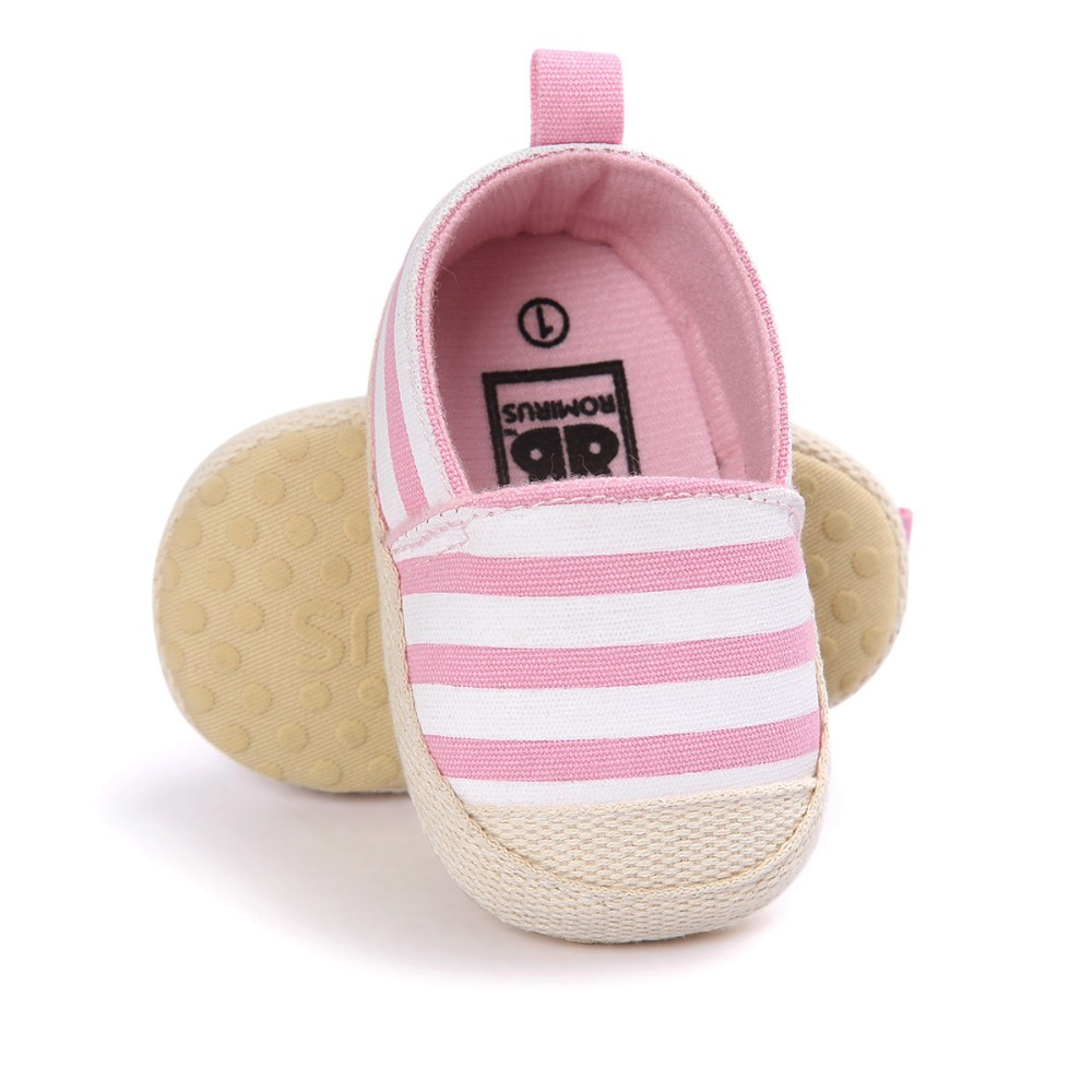 2019 ROMIRUS Striped Baby Boy Girl Shoes Lovely Infant First Walkers Nonslip Soft Sole Toddler Baby Shoes Hot Sale