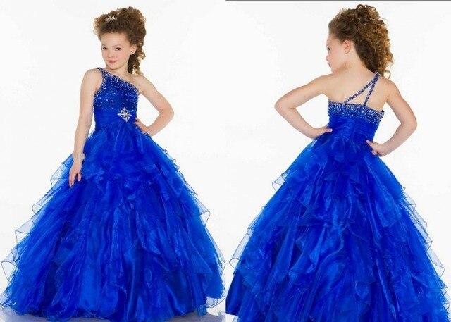 Vestidos de color azul electrico para ninas